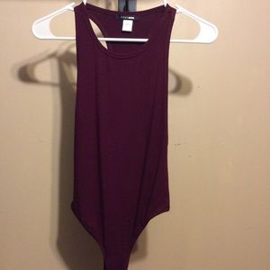 Burgundy Fashion Nova bodysuit